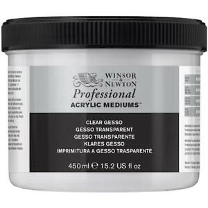 WINSOR & NEWTON Professional Acrylic Gesso - Clear - 450ml Tub