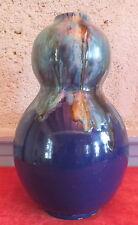 vase C.A.B Céramique d'Art de Bordeaux coloquinte bleu