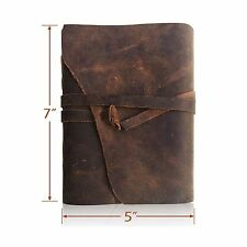 LEATHER JOURNAL Writing Notebook - Antique Handmade Leather Bou... Free Shipping