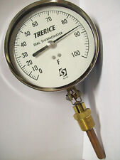 """Trerice 5"""" Dial Thermometer W Adjustable Angle 0-100 F"""