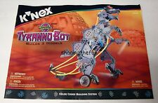 KNEX INSTRUCTION MANUAL ONLY #13138 Tyrrano Bot Robot World Book / Instructions