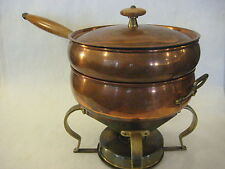 Vintage Made In Us Zone Germany 5 Piece Copper Pan & Burner Set (Rare)