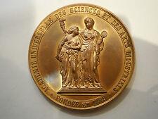 ANTIQUE SIGN P.FISCH BELGIUM BRONZE 1888 MEDAL ORDER PLAQUE ART ACADEMY BRUSSELS