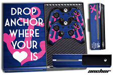 Skin for XBOX ONE 1 Console 2 Controller Stickers Decal ANCHOR WHERE YOUR HEART