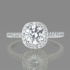 1 Carat Jewelry Round Cut Diamond Engagement Ring D/VS2 14K White Gold Enhanced