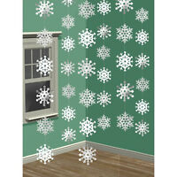 Snowflakes Hanging String Decorations Christmas Holiday Party Supplies Winter ~6