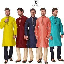Men's Indian Silk Embroidered Kurta  Pajama AN540