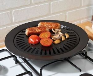 Non-Stick Stove Top Hob Grill Plate Pan Fry Hotplate Griddle BBQ Kitchen