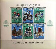 RWANDA RUANDA 1968 Block 13 A Olympics Olympia Mexico Sport Boxing Soccer MNH