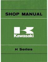 Kawasaki H-Series H1 H2 KH500 Triple Service Manual 1975 1976 1977 Book Bound