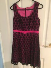 Pink And Black Review Woman Dress Size 10