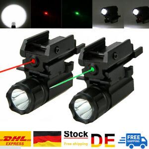 Rot Grün Laser Taschenlampe Pistole Gewehrlicht Combo für 20mm Schiene Picatinny
