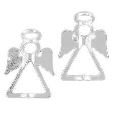 Tibetan Silver Plated Angel & Fairy Bead Frames Pendants 26mm Pack of 2 (J32/1)