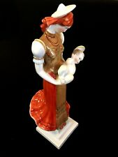 HEREND PORCELAIN HANDPAINTED LARGE MADONNA WITH CHILD FIGURINE