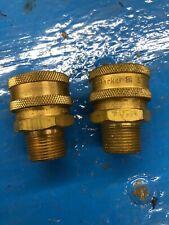 PARKER BST-6M Coupler Body,3/4-14,3/4 In. Body,Brass LOT OF 2!
