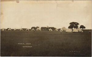PC SCOUTING, Y.M.C.A. CAMP LEYSDOWN, Vintage REAL PHOTO Postcard (b28583)