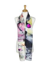 AamiraA Designer Mulberry Chiffon Silk Stole Women Oblong Scarf Free Shipping