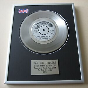 BAY CITY ROLLERS I Only Wanna Be With You PLATINUM PRESENTATION DISC