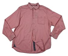 Tommy Bahama Casual Shirt Men's Size Large Pink Twilly Check Button Up New