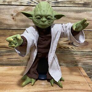 "Star Wars Legendary YODA Jedi Master 16"" Interactive Talking Figure Spin Master"