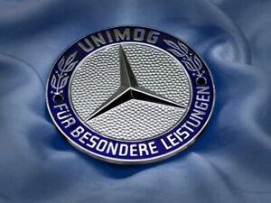 Rare Mercedes Benz badge Plakette Unimog emblem German car plaque #505