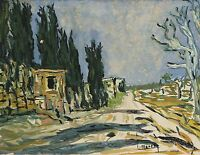 The Path near Flap Morocco 1930 Signature Martin Africa after Van Gogh
