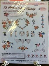 MICHELLE'S DESIGNS # 3728D-SILK RIBBON FLORAL FANTASY MACHINE EMBROIDERY DISK