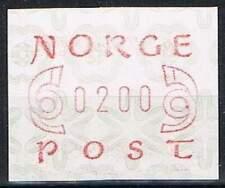 Noorwegen postfris automaatzegels 1980 MNH A2 (02)