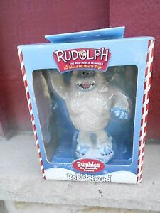 2001 NRFB BUMBLES monster  - RUDOLPH RED NOSED REINDEER bobblehead  (NBS6)