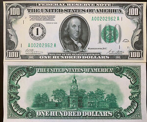 Reproduction United States $100 Bill Federal Reserve Note 1928 Copy Ben Franklin