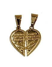 Broken Heart Charm 18k Gold Plated Pendant with 20 inch Chain  - Heart Necklace