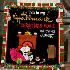 Sn00py This Is My Hallmark Christmas  Fleece, Quilt Blanket Print In USA