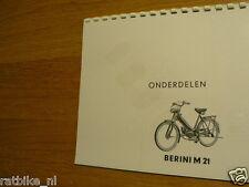 B0509 BERINI  M35/36 PARTS LIST,ONDERDELEN LIJST PHOTOCOPY
