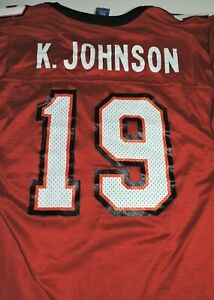 KEYSHAWN JOHNSON #19 Tampa Bay Buccaneers jersey 36 small Champion vintage