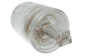 Telephone Handset Phone Coil Cord Swivel Twist Top Untangle Detangler - Clear