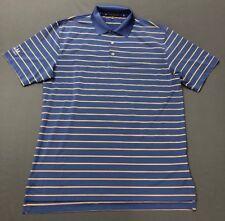 Peter Millar Summer Comfort Golf Shirt Polo (M, Blue, Orange Striped, Mgmnh)