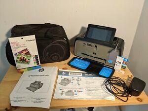 HP Photosmart A646 Digital Photo Inkjet Printer w/ Carrying Bag & Accessories