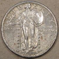 1927 Standing Liberty Quarter AU