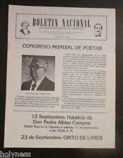 BOLETIN NACIONAL / PARTIDO NACIONALISTA DE PUERTO RICO / NEWSLETTER // AUG 1982