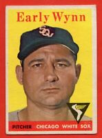 1958 Topps #100 Early Wynn VG+ CREASE Hall of Fame Chicago White Sox FREE SHIP