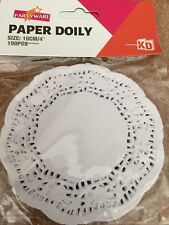 NEW - PAPER DOILY - WHITE - PACK OF 100 - 10 CM
