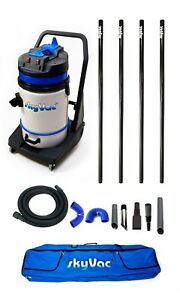 SkyVac Commercial - Wet & Dry Vacuum Gutter Cleaning Machine - 4 Poles (6m/20ft)