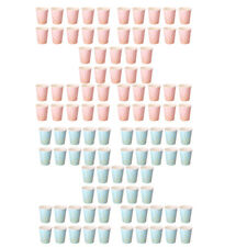 100pcs Pappe Einwegtassen Einwegbecher mit Punkt Muster für Kaffe Tee