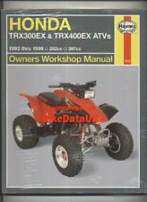 Honda TRX300EX TRX400EX ATV Quad (93-99) Haynes Manual Book TRX 300 400 EX CM12