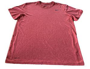 Nike Shirt Dri-Fit Athletic Top Men's Size Large Short Sleeve Rust Color