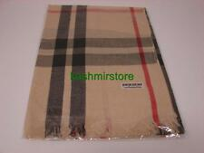 Lady Women Blanket Oversized Tartan Scarf Wrap Shawl Plaid Cozy Pashmina, Beige