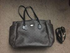 Coach Signature Multifunction Diaper Baby Bag Tote Handbag F35414 Brown