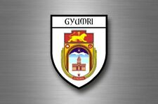 Sticker decal souvenir car coat arms shield city travel armenia Gyumri