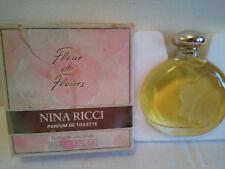 Vintage NINA RICCI FLEUR DE FLEURS FLACON LALIQUE 50ml PARFUM DE TOILETTE Rare