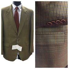 Giacca blazer quadretti da uomo lana cashmere tweed sartoriale 50 regolare  abito 218ca87b9c1